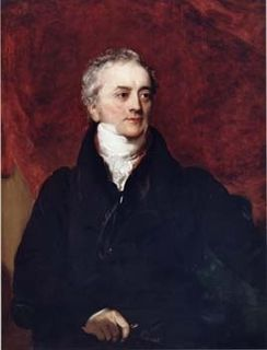 Painted portrait of a man looking to his left, dressed in black with a white scarf around his neck.